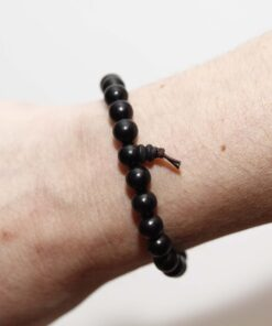 Ebony Beaded Bracelet Wrist Mala